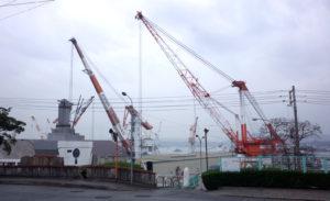 呉の造船所